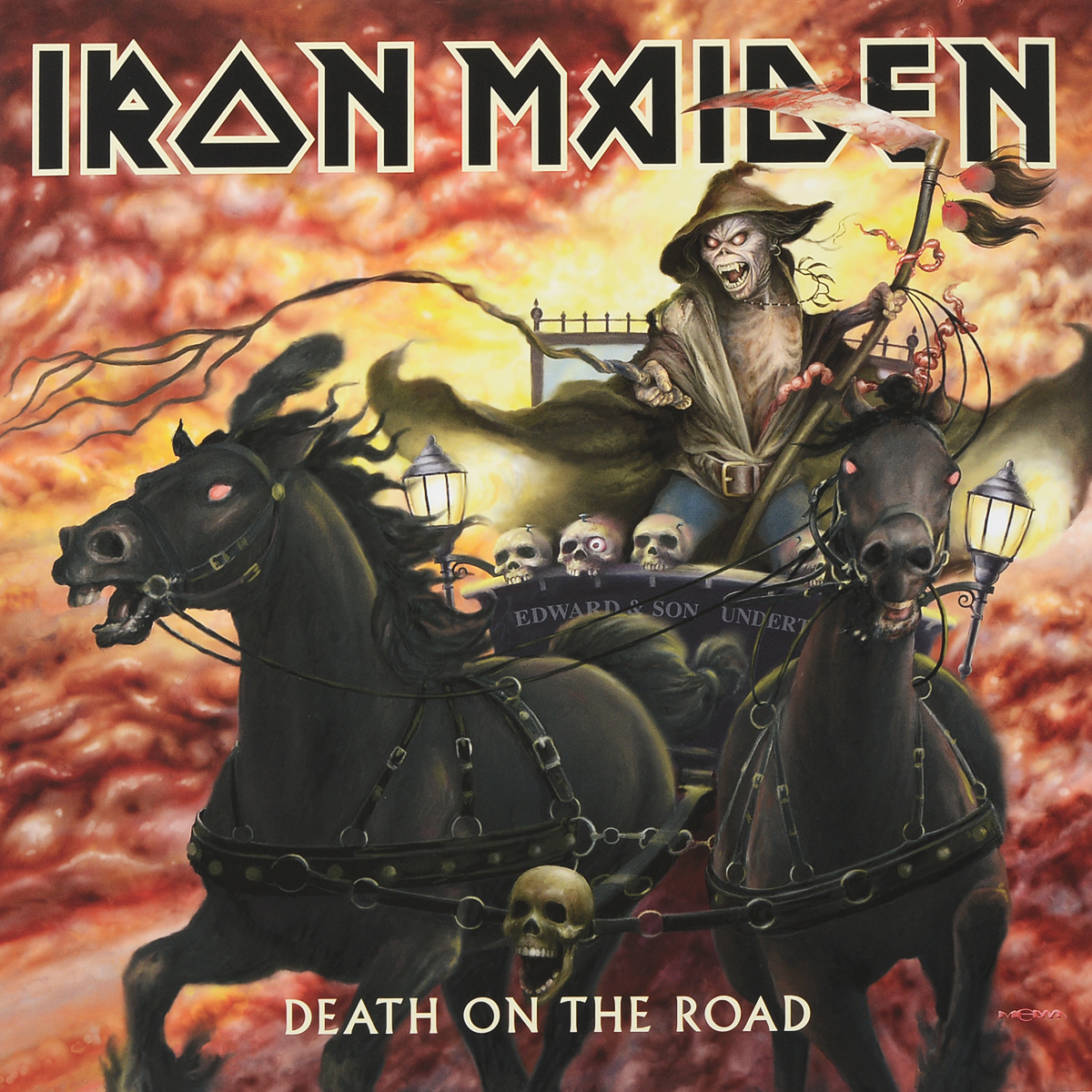 Iron Maiden Iron Maiden. Death On The Road (2 LP) iron maiden the book of souls 3 lp