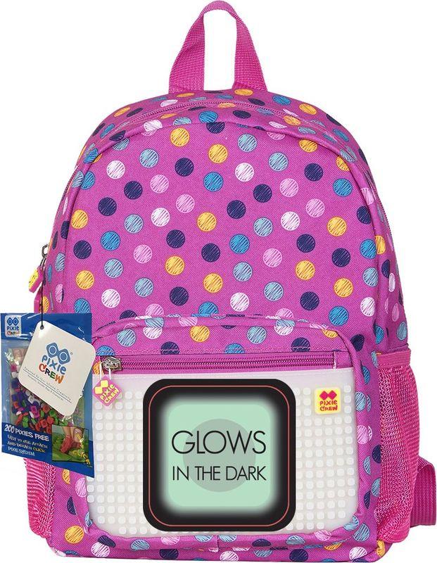 Pixie Crew Рюкзак детский цвет розовый PXB-18-01PXB-18-01Рюкзак детский Pixie Crew со специальной силиконовой панелью размером 26х13 линий (всего 345 пикселей), позволяет с помощью входящего в комплект базового набора пикселей создать индивидуальную картинку. Базовый комплект пикселей: 200 шт.
