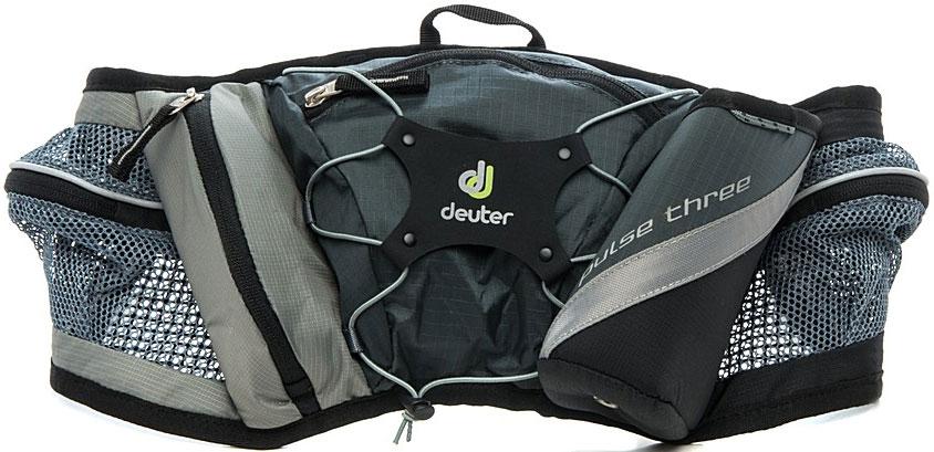Сумка поясная Deuter Pulse Three, цвет: серый39090_4700Во время лыжных прогулок, кросса по пересеченной местности, пешей прогулки или лёгкой утренней пробежки, вес поклажи должен быть минимизирован. Но в любом случае, вам, просто необходима сумка, куда можно убрать фляжку для питья, ключи, мобильный телефон и немного денег. Стильная и легкая сумка Pulse гарантирует размещение всего, что требуется.Объем: 1.2 л.Вес: 250 г.Размеры: 19 x 68 x 9 см. Материал: Deuter-Microrip-Nylon Deuter-Ripstop 210.