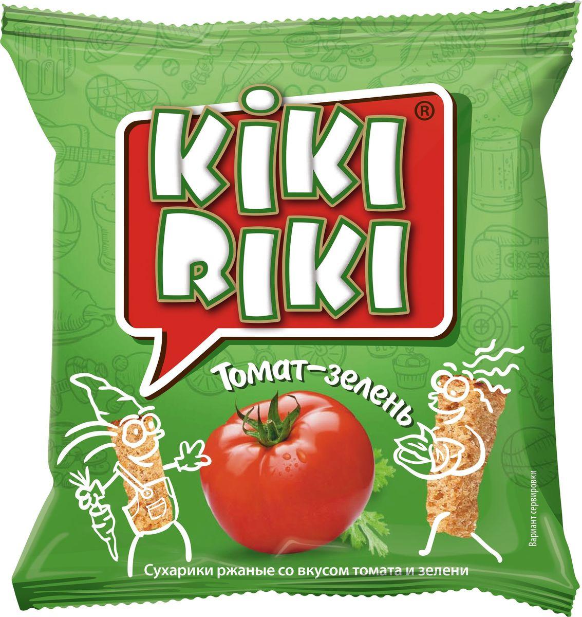 Сухарики ржано-пшеничные со вкусом томата и зелени