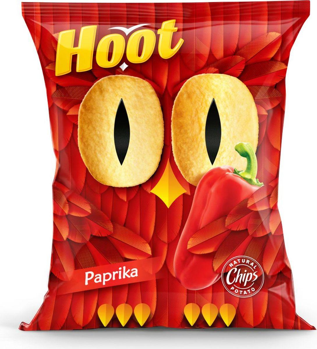 Hoot Чипсы, паприка, 80 г4760156030332Картофельные чипсы со вкусом «Паприки»
