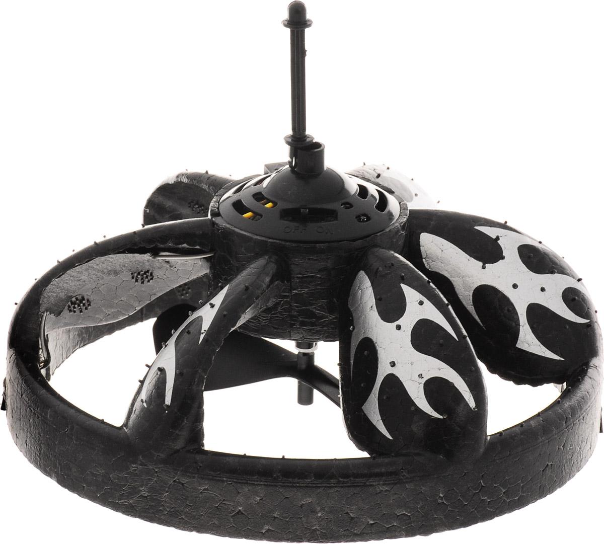 S+S Toys Летающая тарелка Плазмодиум на инфракрасном управлении цвет черный серебристый - Радиоуправляемые игрушки