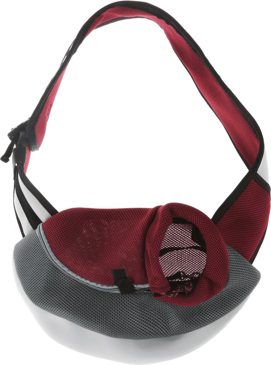 Сумка-переноска для животных Каскад Слинг, через плечо, цвет: серый, бордовый, 35 х 25 х 13 см26365300_серый, бордовыйТекстильная сумка-переноска Каскад Слинг предназначена для собак мелких пород и кошек. Изделие закрывается сбоку на застежку-молнию и затягивается в области головы животного на шнурок на кулиске. Для удобной переноски предусмотрена широкая лямка с регулируемой длиной. Сбоку расположена сетчатая ткань, позволяющая поступать в сумку воздуху. Снизу имеется мягкая вставка, обеспечивающая удобство питомца. Внутри расположен карабин, к которому можно пристегнуть ошейник питомца.Максимальный вес животного: 8-10 кг.