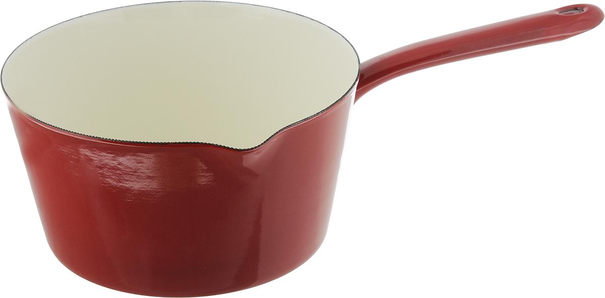 Ковш Metalac Posude Majestic, цвет: красный, 2,5 л147348Ковш Metalac Posude Majestic выполнен из качественной стали с эмалированным покрытием. Эмалированная посуда инертна и устойчива к пищевым кислотам, не вступает во взаимодействие с продуктами и не искажает их вкусовые качества. Эмалевое покрытие, являясь стекольной массой, не вызывает аллергию и надежно защищает пищу от контакта с металлом. Кроме того, такое покрытие долговечно, оно устойчиво к механическому воздействию, не царапается и не сходит. Прочный стальной корпус обеспечивает эффективную тепловую обработку пищевых продуктов и не деформируется в процессе эксплуатации. Ковш оснащен стальной ручкой с отверстием для подвешивания и небольшим удобным носиком. Ковш пригоден для использования на газовых, электрических, стеклокерамических, индукционных плитах. Нельзя мыть в посудомоечной машине.Длина ручки: 16 см.