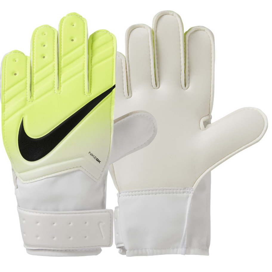 Перчатки вратарские Nike  Jr. Match Goalkeeper Football Glove , цвет: белый, размер 6 - Футбол