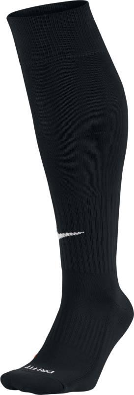 Гетры Nike Classic, цвет: черный, размер M (38/42)SX4120-001Nike ClassicКОМФОРТ ВЕНТИЛЯЦИИ И ПОСАДКА ПО ФИГУРЕ.Носки Nike Classic Soccer разработаны для комфорта во время игры, это поддержка стопы и легкий материал Dri-FIT, который оставляет стопы сухими.Ткань Dri-FIT обеспечивает воздухопроницаемость, поддерживая комфорт и сухость стоп.Укрепленная пятка и носок надежно защищают места, подверженные наибольшему износу.Анатомически продуманный крой улучшает облегание.Поддержка стопы для плотной и надежной посадки.Машинная стирка