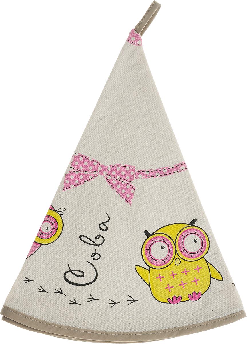 Полотенце кухонное LarangE От Шефа. Совы, круглое, цвет: бежевый, розовый, желтый, диаметр 70 см627-004_совы розовые/желтыеКухонное полотенце LarangE От Шефа. Совы, изготовленное из льна и хлопка, оформлено оригинальным рисунком. Полотенце идеально впитывает влагу исохраняет свою мягкость даже после многих стирок. Полотенце LarangE От Шефа. Совы - отличный вариант для практичной и современной хозяйки.Диаметр полотенца: 70 см