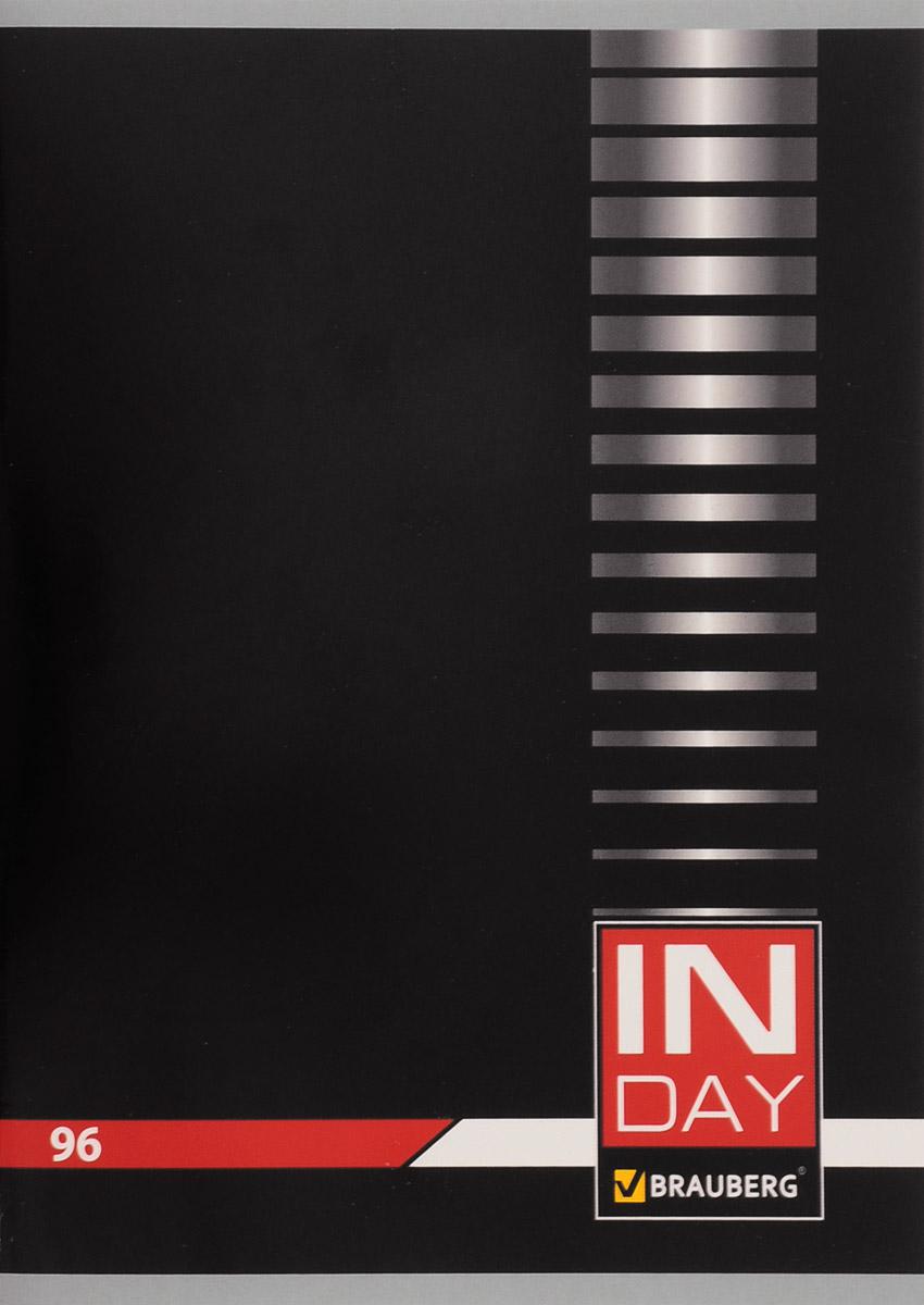 Brauberg Тетрадь In Day 96 листов в клетку цвет черный 400522400522_черныйТетрадь Brauberg In Day подходит для учебы и работы.Обложка, выполненная из плотного картона, позволит сохранить тетрадь в аккуратном состоянии на протяжении всего времени использования.Внутренний блок тетради, соединенный металлическими скрепками, состоит из 96 листов белой бумаги. Стандартная линовка в клетку голубого цвета с полями.