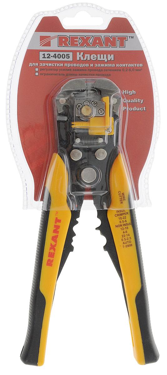 Инструмент для зачистки кабеля Rexant, 0.2 - 6 мм2, и обжима наконечников, HT-766, TL-76612-4005Инструмент для зачистки кабеля и обжима наконечников HT-766 (TL-766) REXANT предназначен для зачистки внешней изоляции одножильного и многожильного кабеля в диапазоне 0.2 - 6.0 мм2, для обжима изолированных и не изолированных наконечников в диапазоне 1.5 - 6.0 мм2 и обжима контактов высоковольтных проводов зажигания в диапазоне 7.0 - 8.0 мм. Регулятор усилия зажима провода позволит оптимально настроить инструмент. Корпус выполнен из качественной инструментальной стали, имеет ограничитель длины зачистки провода и возвратную пружину для обеспечения обратного хода рукояток. Кроме этого данный инструмент осуществляет обрезку проводов. Эргономичные противоскользящие рукоятки с резиновыми вставками обеспечат правильное расположение инструмента в руке и сделают работу максимально простой и приятной.