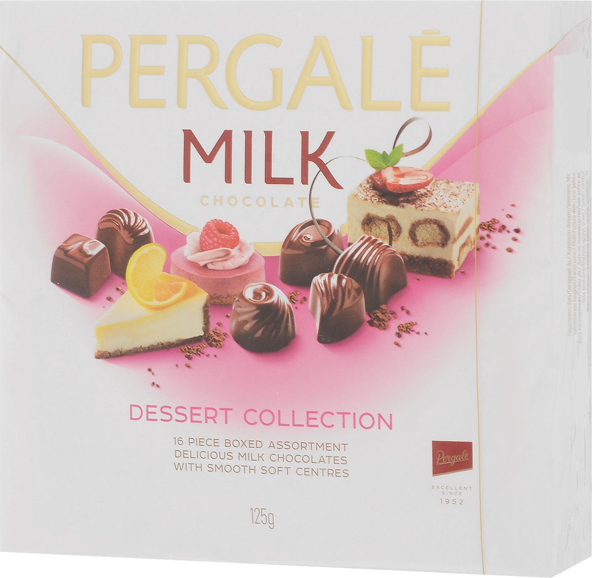 Pergale Набор конфет изысканный десерт, 125 г10738Лидирующая фабрика стран Балтии, кондитерские изделия которой славятся своим качеством и оригинальными рецептами вот уже более 60 лет.Внутри элегантной упаковки находятся шоколадные конфеты с различными нежными начинками, которые позволят насладиться невероятным вкусом конфет.Уважаемые клиенты! Обращаем ваше внимание, что полный перечень состава продукта представлен на дополнительном изображении.