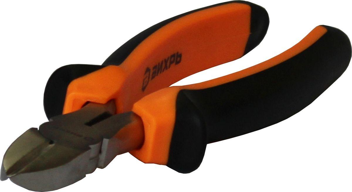Бокорезы Вихрь, 200 мм73/6/3/3Бокорезы «ВИХРЬ» предназначены для широкого спектра монтажных и ремонтных работ.Покрыты никелем, что защищает от коррозии и снижает износ при эксплуатации.Имеют двухкомпонентные рукоятки.Длина - 200 мм