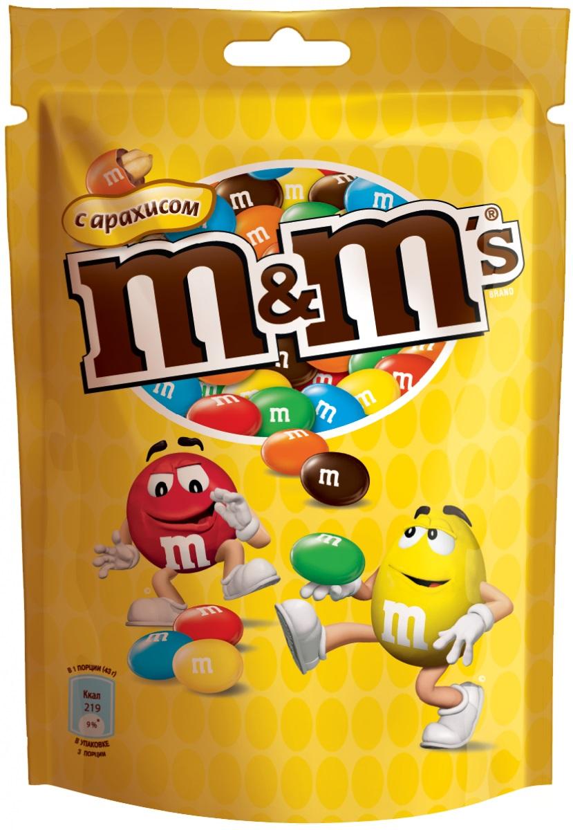 M&Ms Драже с арахисом, 130 г79003026Драже M&Ms с арахисом - это больше веселых моментов для вас и ваших друзей! Разноцветные драже можно съесть самому или разделить с друзьями. В любом случае, вкус отличного молочного шоколада и арахиса подарит вам удовольствие и радость.