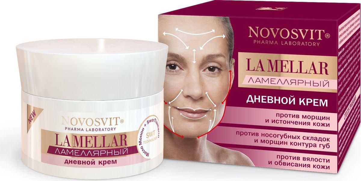Novosvit Ламеллярный дневной крем La Mellar, против морщин и истончения кожи, 50 мл4607086568422Дневной крем с консистенцией густого йогурта отвечает всем потребностям зрелой кожи, ослабленной в период возрастных гормональных изменений. Благодаря ламеллярной структуре эмульсииБИО активная молекула SWerTiamarinэффективно проникает в глубокие слои кожи, увеличивает плотность эпидермиса, эффективно уменьшает глубину морщин. Повышает упругость кожи, помогает восстановить потерянный объем, разглаживает текстуру кожи.