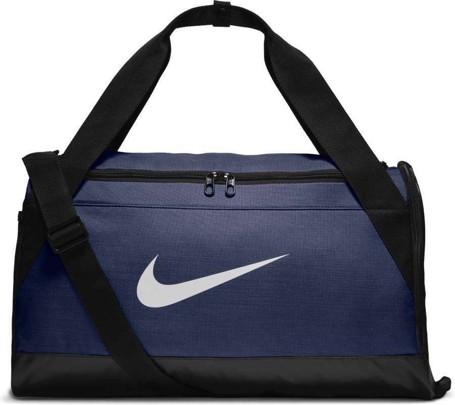 Сумка спортивная Nike Brasilia, цвет: синий. BA5335-410BA5335-410Сумка-дафл Nike Brasilia (малая) из невероятно прочной ткани позволяет иметь всю нужную экипировку под рукой. Внутренние карманы помогают держать вещи в порядке, а отделение для обуви позволяет хранить влажную экипировку отдельно от сухой.Прочная водонепроницаемая ткань дна защищает экипировку от влаги.Вместительное и универсальное основное отделение.Вентилируемое отделение для хранения влажной/сухой обуви.Водонепроницаемый полиэстер высокой плотности отличается прочностью.Двойные ручки можно соединить вместе для удобного ношения.Мягкая плечевая лямка снимается и регулируется для комфортного ношения.Ручка сбоку как альтернативный вариант ношения.