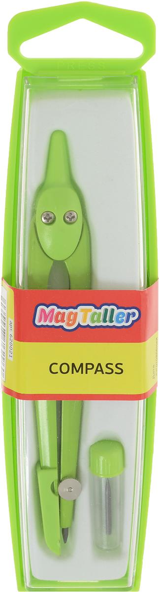 MagTaller Циркуль Compass цвет салатовый620021_салатовыйЦиркуль MagTaller Compass предназначен для чертежных работ.Циркуль выполнен из металла с пластиковыми элементами. В комплект входит запасной грифель.