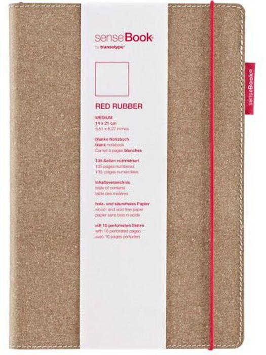 Sense Book Блокнот Red Rubber M 136 листов в клеткуH75020-502Блок бумаги для набросков (скейтчбук).Рекомендуется как начинающим художникам, так и профессионалам.