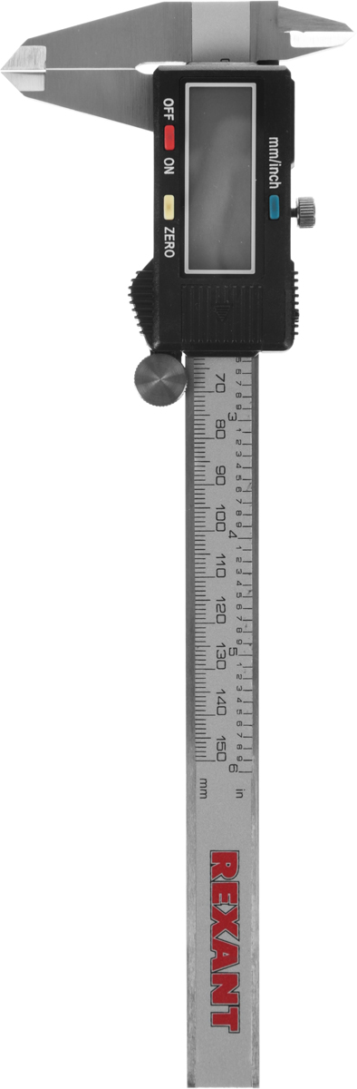 Электронный штангенциркуль Rexant, 150 мм12-9100Электронный штангенциркуль 150 мм Rexant, применяется в машиностроении, приборостроении и других отраслях промышленности для измерения наружных и внутренних линейных размеров, а также глубин. Прецизионная обработка обеспечивает высокую точность измерений.Материал корпуса – пластикМатериал штанги - нержавеющая стальДлина 150 ммРазмер шага 0.01 ммЖК Дисплей