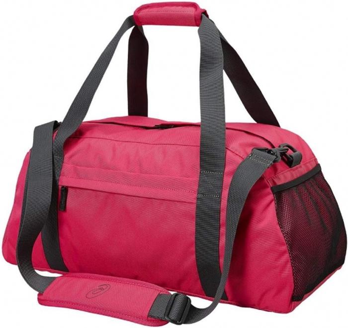Сумка спортивная Asics Training Essentials Gymbag, цвет: розовый127692-0640Спортивная форма, снаряжение и все, что может потребоваться на тренировке или матче, поместится в одной сумке. Объем основного отделения составляет 45литров. Сумка выполнена из долговечного и не пропускающего влагу материала, так что ее можно спокойно оставить даже на мокром поле.
