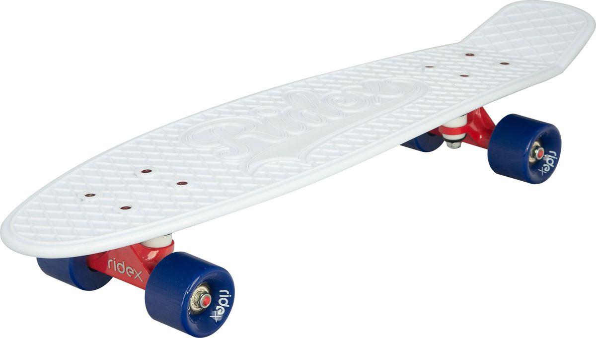 Круизер Ridex  Blizzard , цвет: белый, 27''x8 , ABEC Seven Chrome - Скейтборды и пенни борды