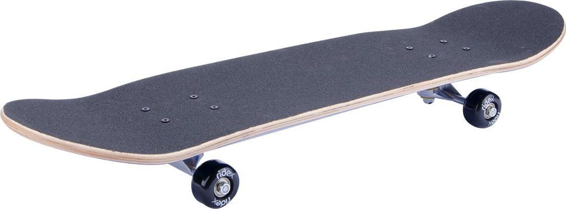 Скейтборд Ridex Immortal, цвет: фисташковый, 31X8, ABEC-3УТ-00009758Скейтборд Immortal, 31x8 - это скейтборд для подростков и взрослых, тех, кто продолжает осваивать или уверенно стоит на доске. На данной доске уже можно уверенно учиться трюкам, так как в конструкции скейта присутствует алюминиевая подвеска, стойкая к ударам и износу. 31-ти дюймовая дека, алюминиевая подвеска, ПВХ колеса, индивидуальный дизайн.Характеристики:Дека: 31х8, 9-ти слойный китайский кленПокрытие деки (сцепление): grip tape, черныйПодвеска: алюминийПрокладка: резиноваяБушинги: PVCМатериал колес: PVCРазмер колес, мм: 50Подшипники: ABEC-3Максимальный вес пользователя, кг: 50Упаковка: термоусадкаВес без коробки, кг: 2