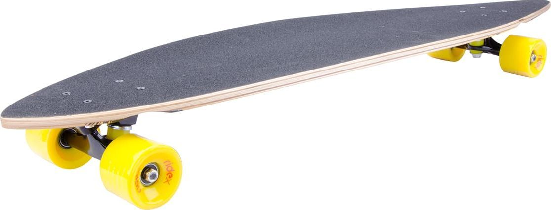 Лонгборд Ridex Honolulu, цвет: желтый, 42X9, ABEC-7УТ-00009767Теплый океан, приятный, легкий бриз, красивейший закат, пальмы - только лонгборд бренда Ridex может доставить истинное наслаждение от катания в душном мегаполисе! Оригинальный дизайн перенесет Вас и всех окружающих к рифовым волнам и ощущению удовольствия. Форма деки позволит не только уверенно лавировать в городском трафике на небольшой скорости, но и разгоняться на свободных дорогах. Алюминиевая подвеска, полиуретановые бушинги и колеса минимизируют неровности на различных поверхностях, а технологичные подшипники ABEC SEVEN Chrome гарантируют плавный и уверенный накат. Попробуйте ощутить прикосновение волн океана в Вашем городе!Характеристики:Дека: 42х9, 9-ти слойный китайский кленПодвеска: алюминий 5, окрашеннаяБушинги: PU, жесткость 85АМатериал колес: PUРазмер колес, мм: 65Жесткость колес: 78АПодшипники: ABEC-7Рекомендуемый вес пользователя, кг: 85Максимальный вес пользователя, кг: 100Вес без коробки, кг: 3,8Вес брутто: 2.272 кг.