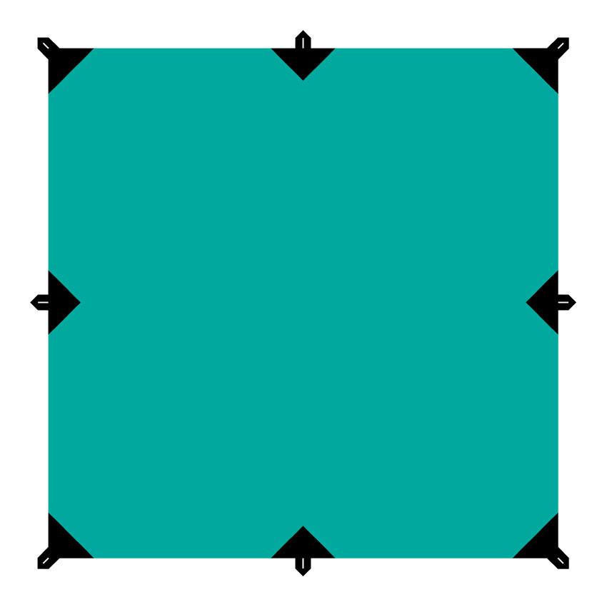 Тент Tramp, цвет: зеленый, со стойками и оттяжками, 3 х 3 мTRT-104.04Универсальный тент Tramp предназначен для защиты от дождя и солнца. Использование высококачественного полиэстера делает тент прочным, легким и не впитывающим влагу. Тент имеет пропитку, защищающую от ультрафиолетового излучения. По периметру вшиты петли для фиксации тента на оттяжках. Углы тента усилены вставками из прочной ткани. Светоотражающие оттяжки с регуляторами длины и стальные колышки в комплекте. Также в комплект входят стойки длиной 3 м.Тент упаковывается в чехол для транспортировки и хранения. Размер тента: 3 х 3 м.