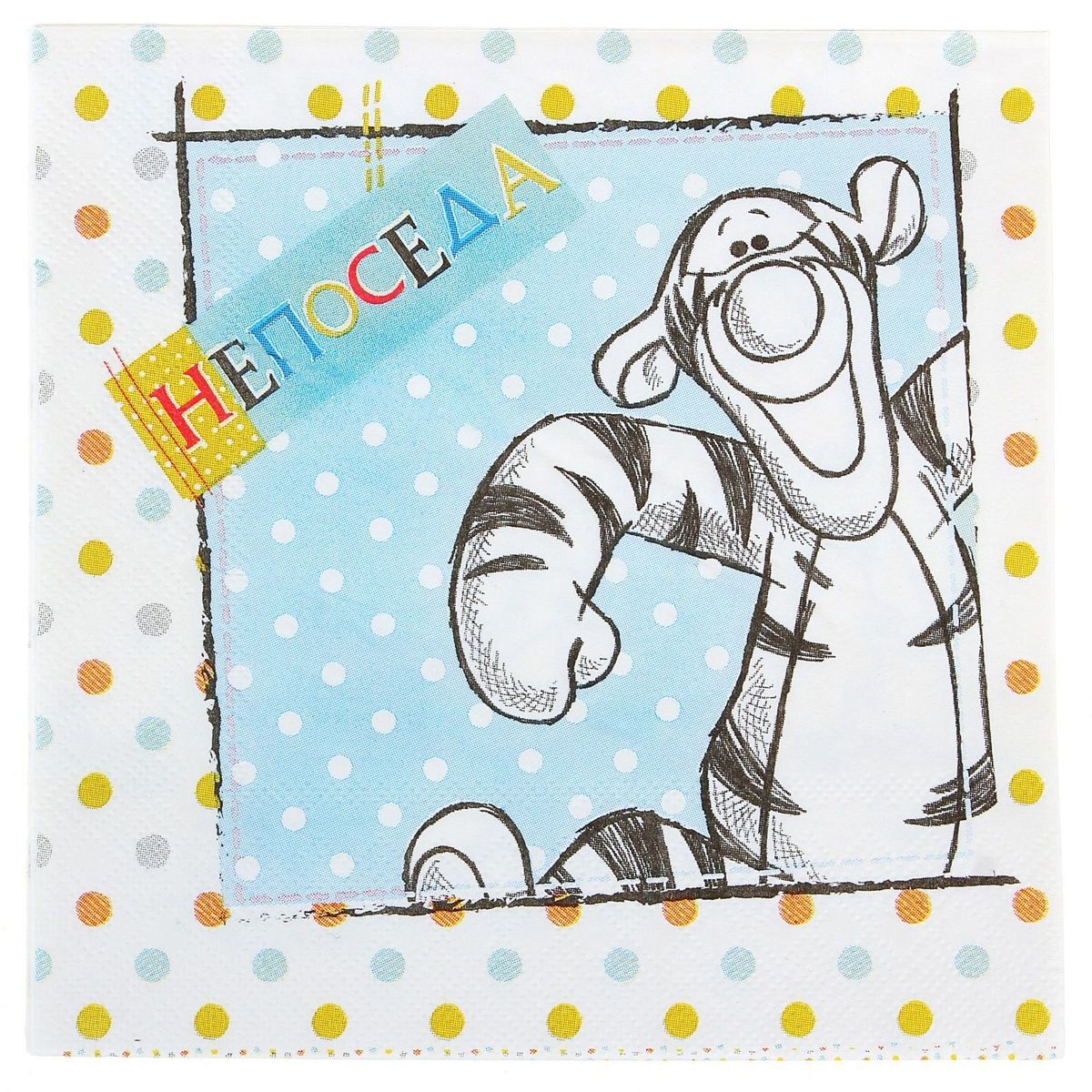 Салфетка для декупажа Disney Медвежонок Винни. Вместе веселей, 33 х 33 см1189466Салфетка для декупажа изготовлена из тонкой, но качественной бумаги. Легко приклеится к основе и сохранит при этом насыщенность красок и четкость линий.Создавайте свои уникальные шедевры!