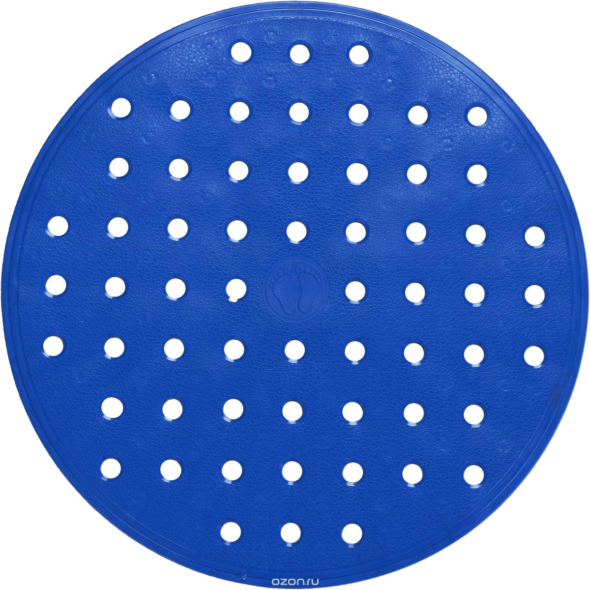Коврик для ванной Ridder Action, противоскользящий, цвет: голубой, диаметр 53 см167213Коврик для ванной Ridder Action, изготовленный из каучука с защитой от плесени и грибка, создает комфортное антискользящее покрытие в ванне. Крепится к поверхности при помощи присосок. Изделие удобно в использовании и легко моется теплой водой. Диаметр: 53 см.