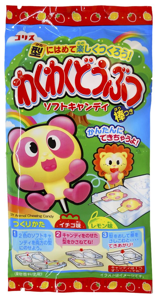 Coris Сделай Сам Животные набор жевательных конфет, 20 г064686Забавные животные, мягкие конфетки. Конфеты жевательные в виде животных из серии Сделай сам. Можно сделать 8 животных - собачку и кошечку, слоника и зайчика, жирафа и мишку, львенка и панду. Не переживайте, японский продукт абсолютно безопасен для Вашего малыша!