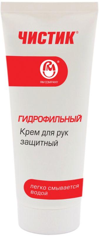 """Крем гидрофобный PM, 100 млАС.060041Крем для рук гидрофобный """"Чистик"""" специально разработан для защиты кожи рук от вредных воздействий на производстве. Подходит для использования во всех отраслях промышленности (горнодобывающем, нефтеперерабатывающем, химическом производствах, металлургии, строительстве, транспорте, машиностроении и других). Крем для рук защитный гидрофобный предназначен для защиты кожи рук от разбавленных водных растворов кислот, щелочей, солей, детергентов (ПАВ), смешиваемых с водой смазочно-охлаждающих жидкостей (СОЖ)."""