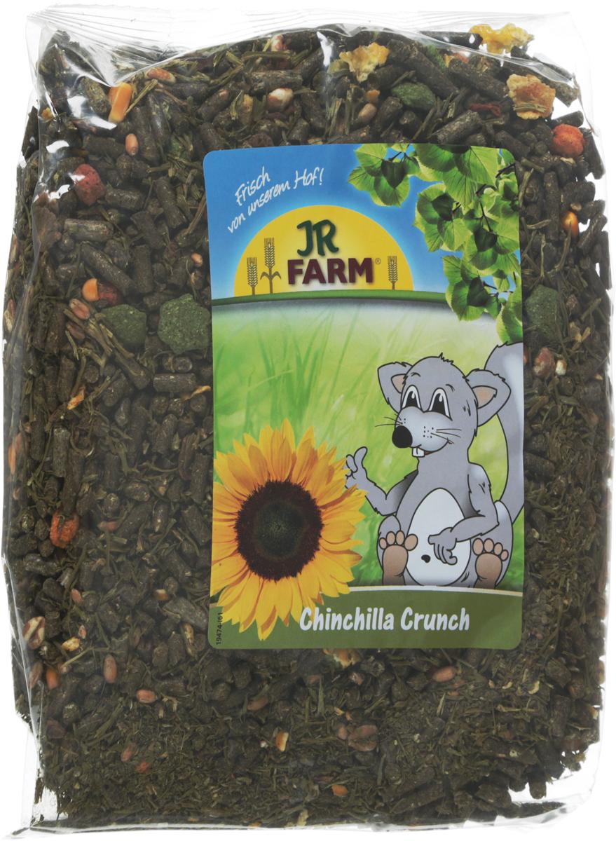 Корм для шиншилл JR Farm Crunch, 1 кг. 4186641866Корм для шиншилл JR Farm Crunch - это сбалансированное питание, которое включает необходимые витамины и минералы для полноценной жизни животного. Высокое содержание клетчатки поддерживает здоровое пищеварение. Рецептура корма без содержания сахара, с умеренным количеством нутриентов, с важными питательными веществами. Корм разработан с учетом индивидуальных потребностей. Произведен только из натуральных компонентов.Товар сертифицирован.