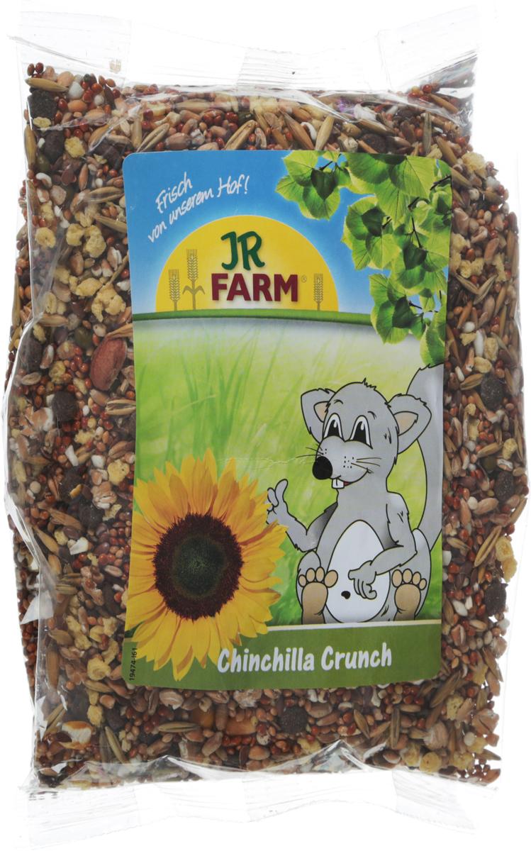 Корм для шиншилл JR Farm Crunch, 500 г. 4186041860Корм для шиншилл JR Farm Crunch - это сбалансированное питание, которое включает необходимые витамины и минералы для полноценной жизни животного. Высокое содержание клетчатки поддерживает здоровое пищеварение. Рецептура корма без содержания сахара, с умеренным количеством нутриентов, с важными питательными веществами. Корм разработан с учетом индивидуальных потребностей. Состоит только из натуральных компонентов.Товар сертифицирован.