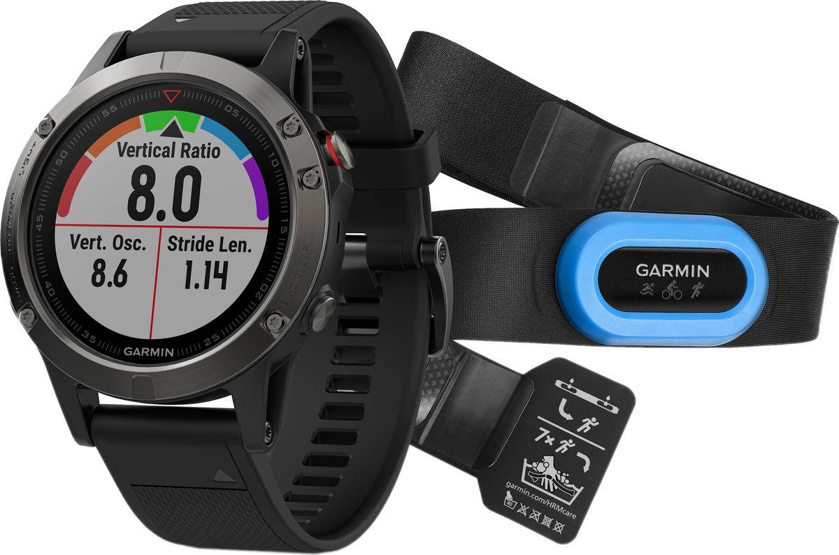 Часы спортивные Garmin  Fenix 5 , цвет: серый. 010-01688-30 - Умные часы