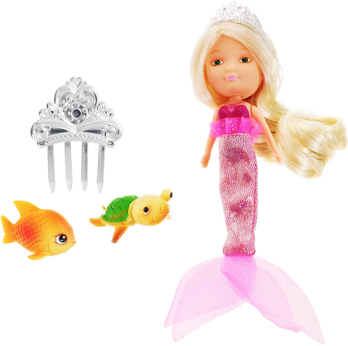Veld-Co Игровой набор с мини-куклой Русалка с черепахой и рыбкой veld co мини кукла mona с черепахой