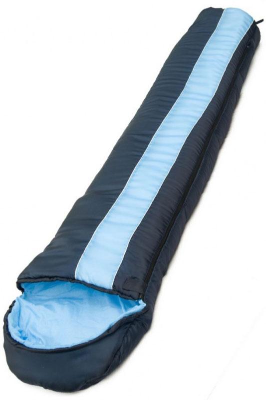 Спальный мешок Чайка TOURIST 300, правосторонняя молния, цвет:синий, черныйTOU300Спальный мешок-кокон Чайка TOURIST 300 предназначен для людей увлекающихся туризмом и активным отдыхом.Глубокий утягивающий капюшон позволит максимально сохранить тепло.Синтетический утеплитель нового поколения термофайбер обладает повышенными теплоизолирующими свойствами. Он легкий, мягкий, особо теплый, хорошо пропускает воздух, не впитывает влагу.Очень практичная модель для теплого сезона. Комплектуется компактным чехлом.Размер: 230 х 80 см.Наружный материал:Taffeta 190 (100% polyester) - Полиэстеровая Таффета по прочности и химической стойкости несколько уступает нейлоновой, но превосходит ее по термо- и светостойкости.Внутренний материал: -Бязь, (100% хлопок) / Эпонж (100% polyester).Наполнитель:Термофайбер 300г/м2 (100% polyester) - Синтетический утеплитель нового поколения с повышенными теплоизолирующими свойствами. Легкий, мягкий, особо теплый, хорошо пропускает воздух, не впитывает влагу.Температурный режим: -5/+10 С.Вес: 1,3 кг.