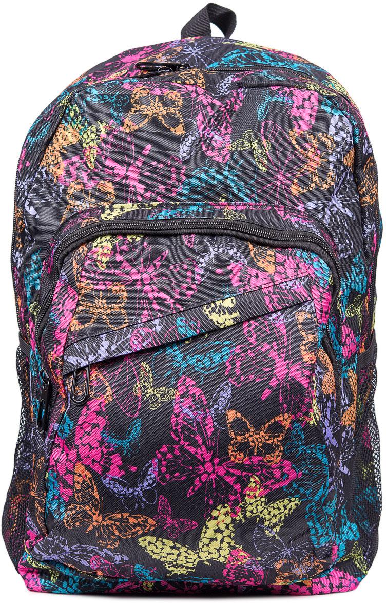 Рюкзак женский Nuages, цвет: черный. NR7099-1NR7099-1Текстильный рюкзак. Основное отделение на молнии, 1 карман на молнии сзади, 2 боковых кармана.см; ширина: 33 см; высота: 40 см
