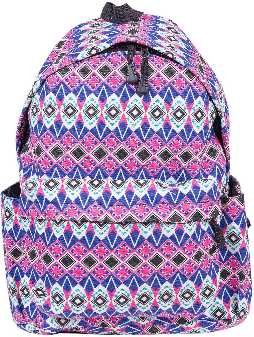 Рюкзак женский Nuages, цвет: розовый. NR7105-2NR7105-2Текстильный рюкзак. Основное отделение на молнии, 1 карман на молнии сзади, 2 боковых кармана