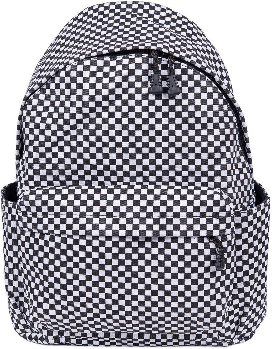 Рюкзак женский Nuages, цвет: черный, белый. NR7105-4NR7105-4Текстильный рюкзак. Основное отделение на молнии, 1 карман на молнии сзади, 2 боковых кармана