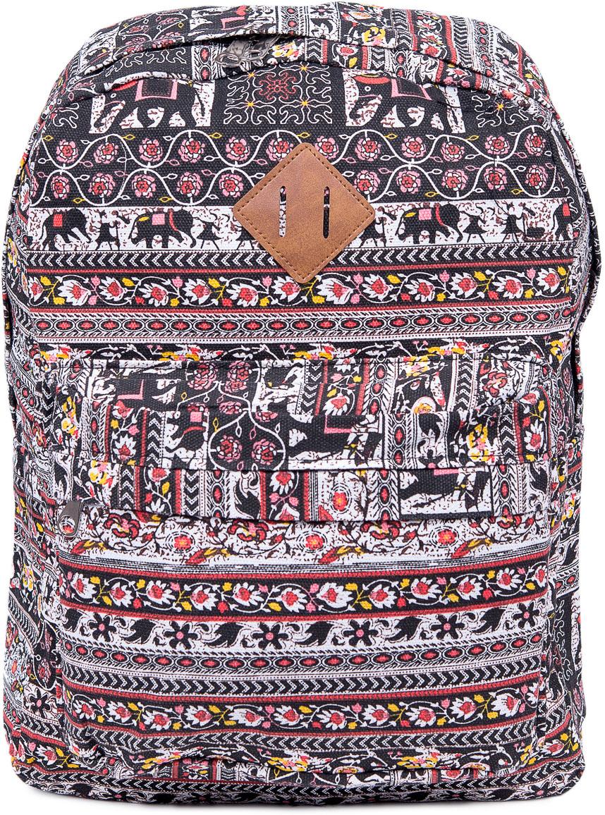Рюкзак женский Nuages, цвет: коричневый. NR7106/2NR7106/2Текстильный рюкзак. Основное отделение на молнии, 1 карман на молнии сзади, 2 боковых кармана, карман на молнии на спинке.
