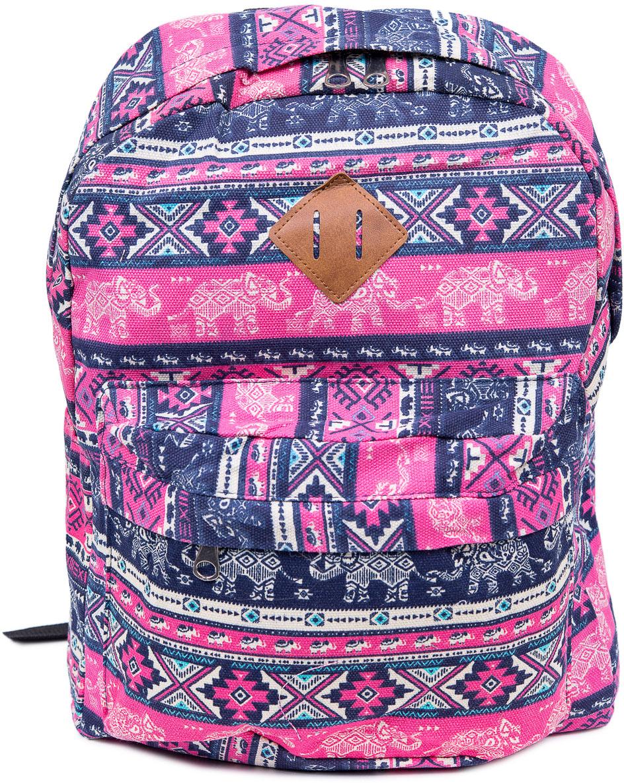 Рюкзак женский Nuages, цвет: синий, розовый. NR7106/3NR7106/3Текстильный рюкзак. Основное отделение на молнии, 1 карман на молнии сзади, 2 боковых кармана, карман на молнии на спинке.