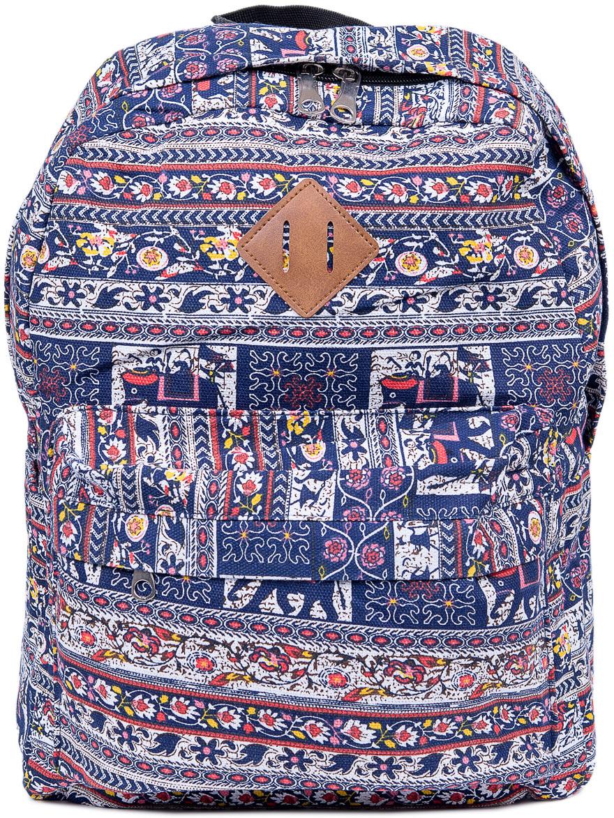 Рюкзак женский Nuages, цвет: синий. NR7106/5NR7106/5Текстильный рюкзак. Основное отделение на молнии, 1 карман на молнии сзади, 2 боковых кармана, карман на молнии на спинке.