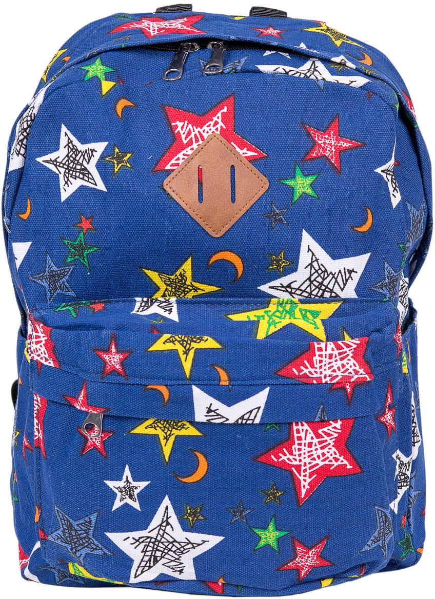 Рюкзак женский Nuages, цвет: голубой. NR7115/1navyNR7115/1navyТекстильный рюкзак. Основное отделение на молнии, 1 карман на молнии сзади, 2 боковых кармана, карман на молнии на спинке.