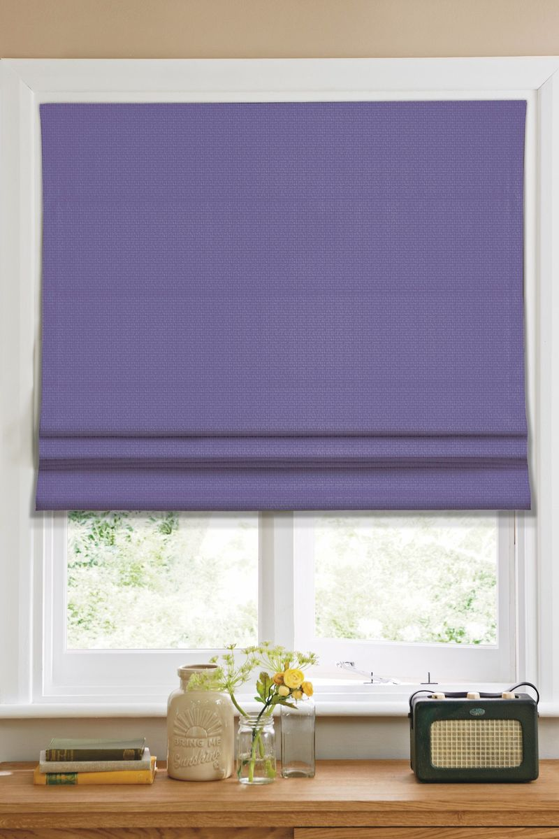 Штора римская  Эскар , цвет: фиолетовый, ширина 140 см, высота 160 см - Шторы