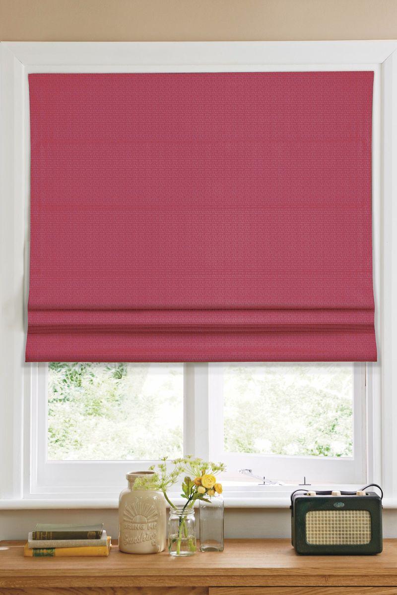 Штора римская  Эскар , цвет: красный, ширина 140 см, высота 160 см - Шторы