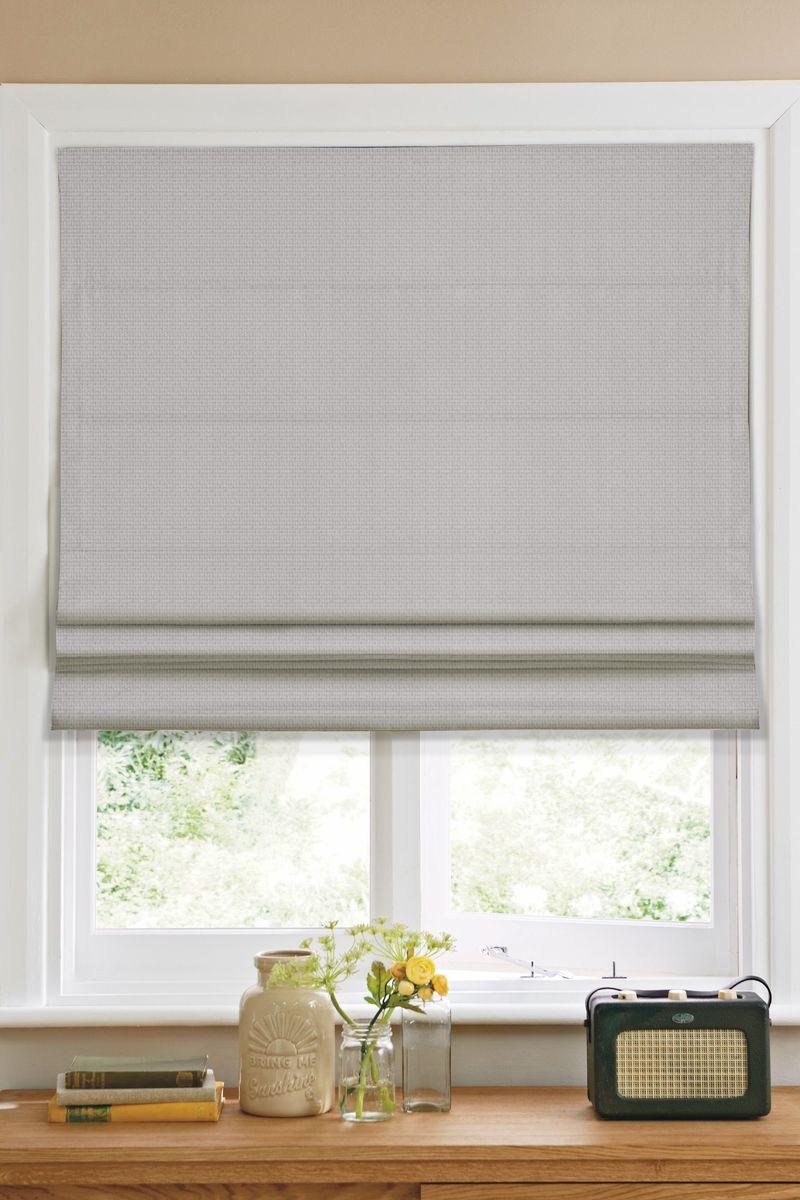 Штора римская  Эскар , цвет: серый, ширина 80 см, высота 160 см - Шторы