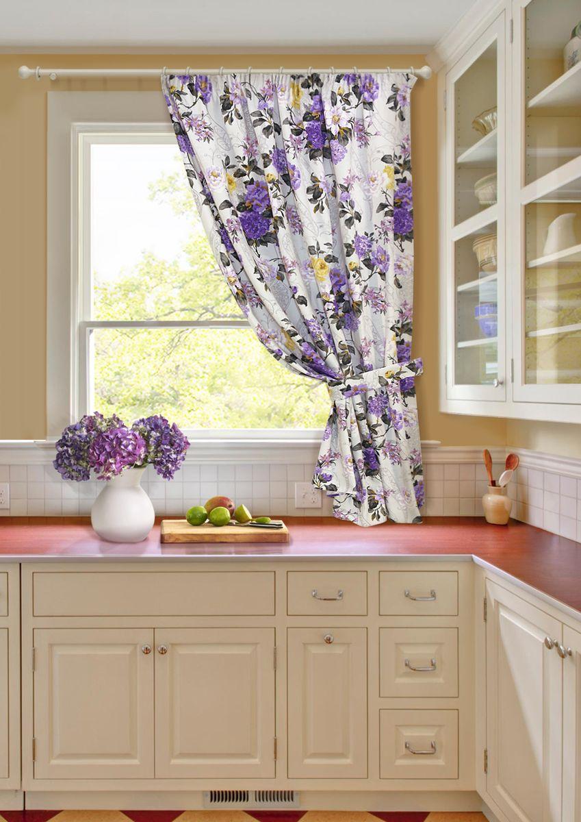 Штора KauffOrt Мелодия, на ленте, с подхватом, цвет: мультиколор, высота 175 см3111242136Комплектация: 1 портьера, 1 подхват. Материал: полотно, принт. Состав: 55% хлопок, 45% полиэстер. Цвет: мультиколор. Применение: кухня, дача.