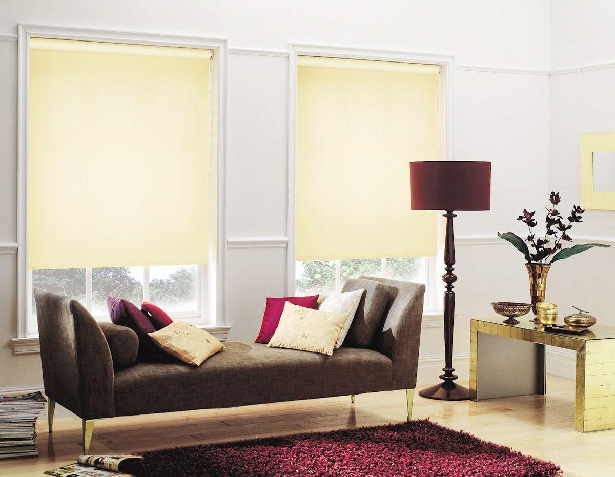 Штора рулонная Эскар Миниролло, цвет: светлый лимон, ширина 83 см, высота 170 см31115083170Рулонными шторами можно оформлять окна как самостоятельно, так и использовать в комбинации с портьерами. Это поможет предотвратить выгорание дорогой ткани на солнце и соединит функционал рулонных с красотой навесных. Преимущества применения рулонных штор для пластиковых окон: - имеют прекрасный внешний вид: многообразие и фактурность материала изделия отлично смотрятся в любом интерьере;- многофункциональны: есть возможность подобрать шторы способные эффективно защитить комнату от солнца, при этом она не будет слишком темной. - Есть возможность осуществить быстрый монтаж.ВНИМАНИЕ! Размеры ширины изделия указаны по ширине ткани! Во время эксплуатации не рекомендуется полностью разматывать рулон, чтобы не оторвать ткань от намоточного вала. В случае загрязнения поверхности ткани, чистку шторы проводят одним из способов, в зависимости от типа загрязнения:легкое поверхностное загрязнение можно удалить при помощи канцелярского ластика;чистка от пыли производится сухим методом при помощи пылесоса с мягкой щеткой-насадкой;для удаления пятна используйте мягкую губку с пенообразующим неагрессивным моющим средством или пятновыводитель на натуральной основе (нельзя применять растворители).