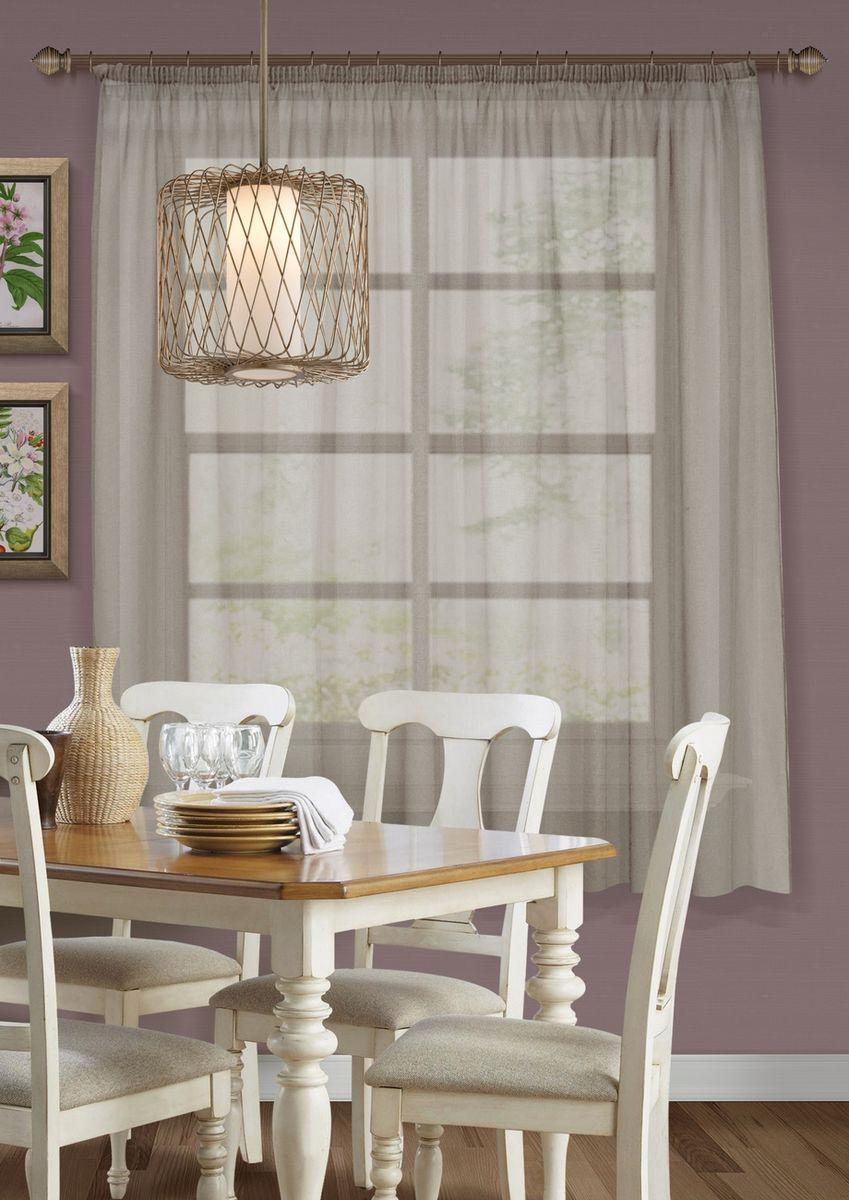 Штора KauffOrt Талия, на ленте, цвет: коричневый, высота 175 см3111600160Комплектация: 1 Тюль. Материал: Сетка. Состав: 100% Полиэстер. Цвет: коричневый. Применение: кухня, дача.