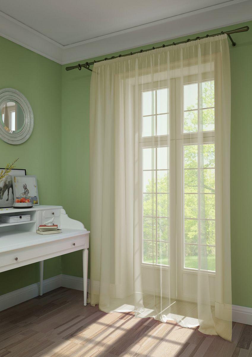 Штора KauffOrt Нелли, на ленте, цвет: бежевый, высота 275 см3111720120Комплектация: 1 Тюль. Материал: Вуаль. Состав: 100% Полиэстер. Цвет: бежевый. Применение: гостиная, спальня, дача.