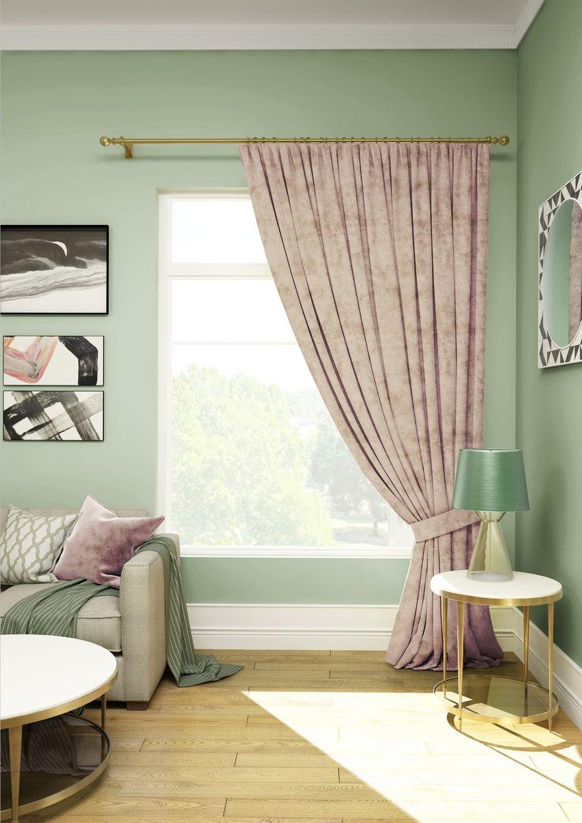 Штора KauffOrt Велюр, на ленте, с подхватом, цвет: розовый, высота 270 см3111902671Комплектация: 1 Портьера, 1 подхват, термоклеевая лента, для регулирования высоты шторы. Материал: велюр. Состав: 100% Полиэстер. Цвет: светло - розовый. Применение: гостиная, спальня, кабинет, детская.